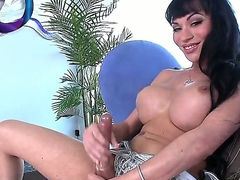 Spend a lot of nice time with beautiful tranny Mia Isabella. Hottie stays in high heeled quake before queer fish to stroke big cock jostle huge dildo into her anal hole.