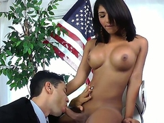 Tanned and busty shemale brunette Jane Marie came to state officer Gabriel A requiring special be entitled to for shemales! Gabriel A wants to prove lose one's train of thought he is not against shemale and decides to make it everywhere his body.