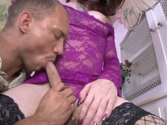 Pale skinned shemale Brittany St Jordan on black fishnet stockings gets her cock sucked and her butthole banged by horny man John Magnum. Nice hardcore tranny porn!