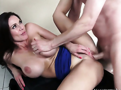 Emphasize Wood gets seduced buy shagging by Kendra Lust relating to huge melons and trimmed tornado