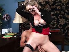 Abbey Brooks with massive breasts makes Danny Provinces anal fantasies cum true
