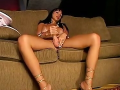 Carla Plays with Her Shemale Meat
