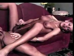 Long hair tranny and dude action