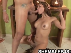 Mixely Brasil - Sexy Shemale Swallows A Curved Flannel