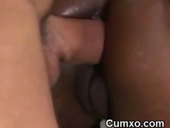 Crazy Black Hoe Taking White Cock In Ass