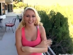 Cute blonde loves getting fucked by huge film
