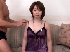 Lovely asian girl gets ass and slick pussy teased in close-up